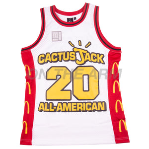 Travis Scott White McDonalds All American Basketball Jersey
