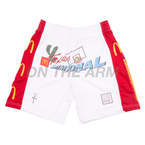 Travis Scott White McDonalds All American Basketball Shorts