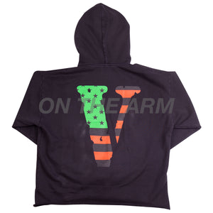 VLONE Black USA Flag Hoodie (ATL EXCLUSIVE)