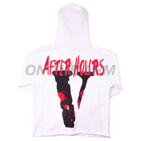VLONE White XO After Hours Drip Hoodie