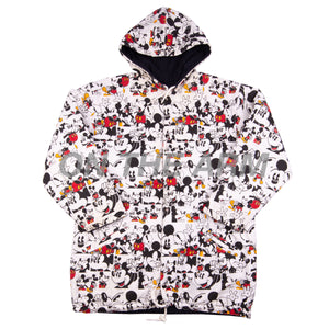 Vintage All Over Print Reversible Mickey Parka