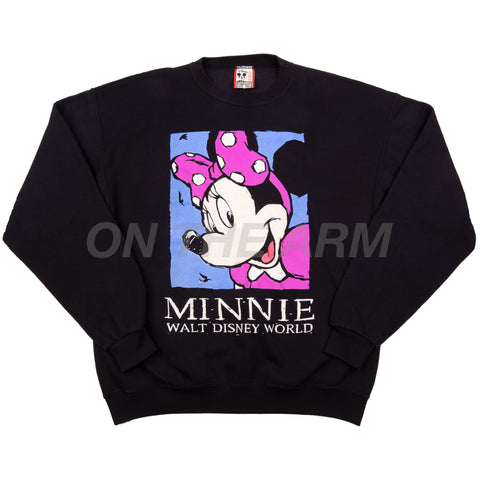 Vintage Black Disney World Minnie Mouse Crew