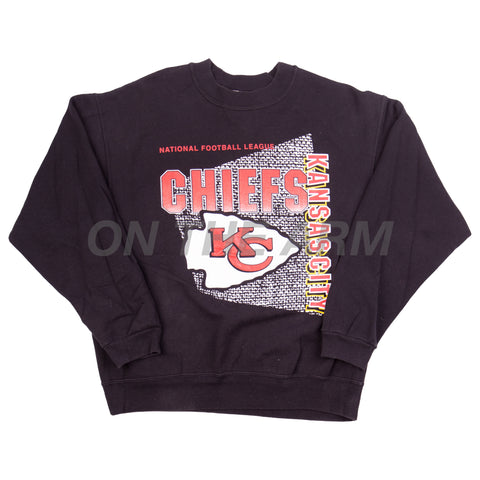 Vintage Black Kansas City Chiefs Crew
