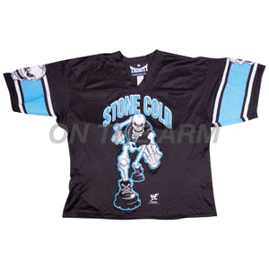 Vintage Black WWE Stone Cold Football Jersey