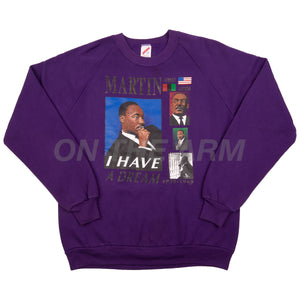 Vintage Purple Martin Luther King Jr. Crew