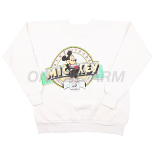 Vintage White Mickey Mouse 60th Anniversary Crew