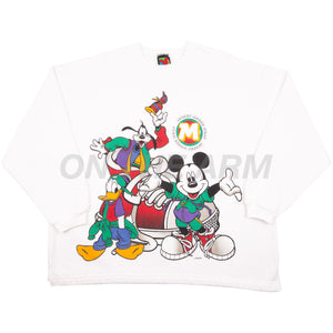 Vintage White Mickey Mouse Wear Crew