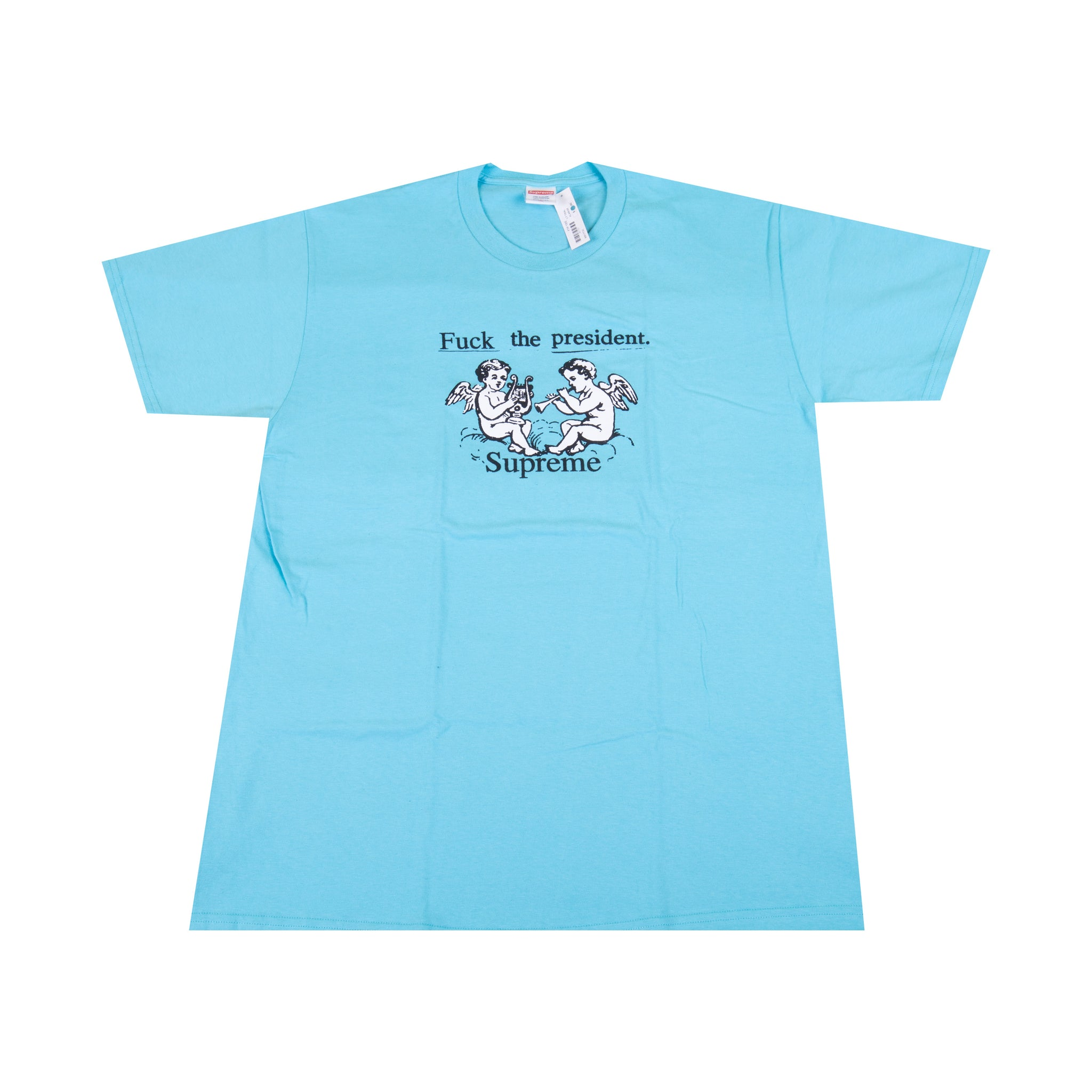 Supreme Aqua Fuck The President Tee