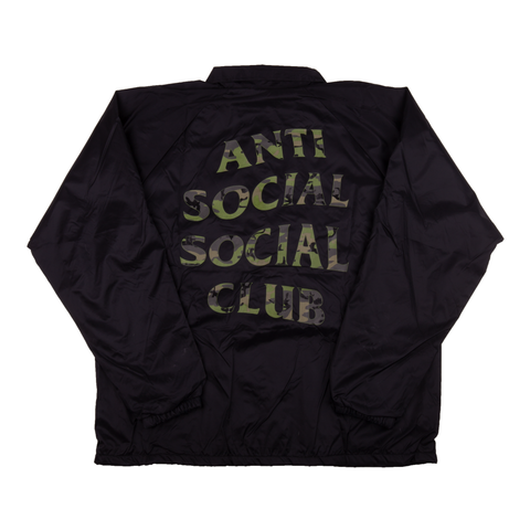Anti Social Social Club Black Coaches Jacket