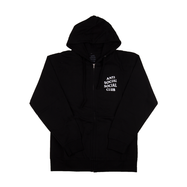 Anti Social Social Club Black Mind Games Zip Hoodie