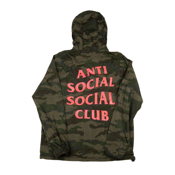 Anti Social Social Club Camo Hooded Zip Up Jacket