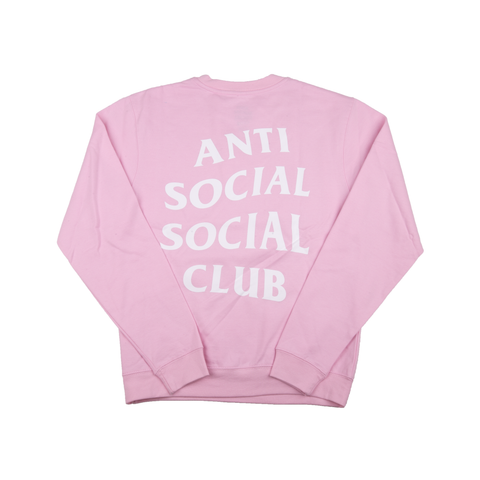 Anti Social Social Club Pink Know You Better Crewneck