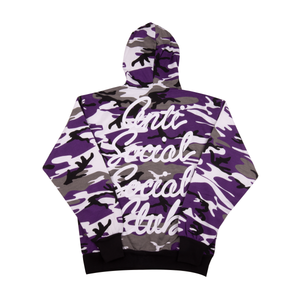 Anti Social Social Club Purple Options Camo Hoodie
