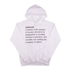 Anti Social Social Club White Meanings Hoodie