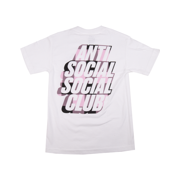 Anti Social Social Club Blocked Pink Plaid Tee
