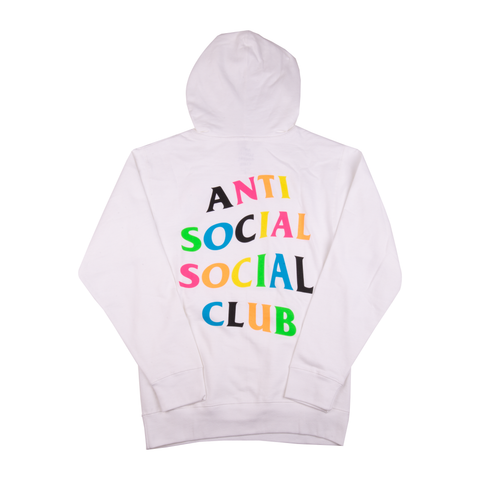 Anti Social Social Club White Rainbow Hoodie