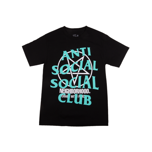 Anti Social Social Club Black Neighborhood Logo Tee