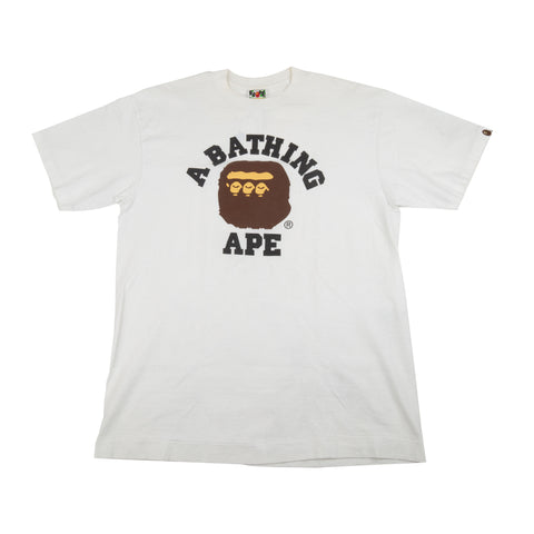Bape White 3 Head Tee