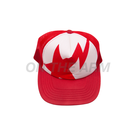 Bape Red Bapesta Trucker Hat