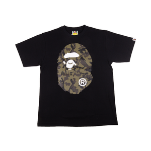 Bape Black Camo Big Ape Head Tee