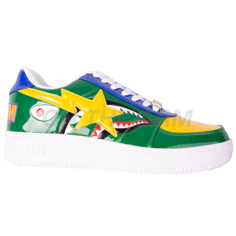 Bape Green Shark Bapesta