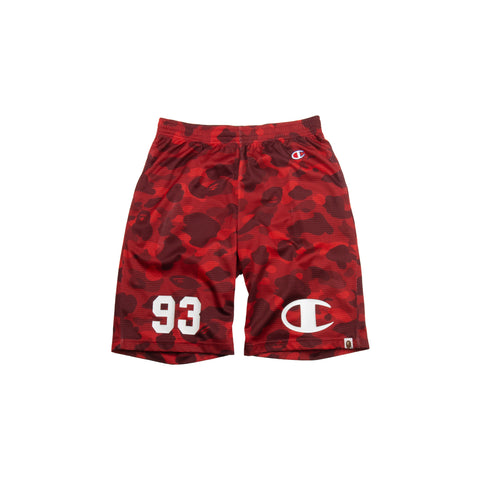 Bape Red Camo Champion Shorts