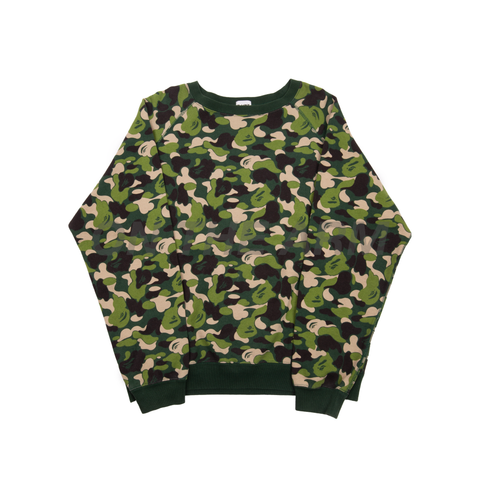 Bape Green ABC Camo Crew