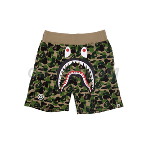 Bape Green ABC Camo Shark Shorts
