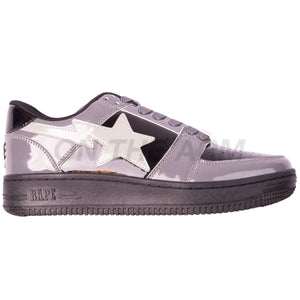 Bape Black/Grey Patent Leather Bapesta