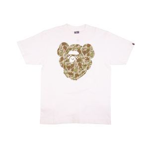 Bape Green Cloud Camo Kaws Ape Head Tee