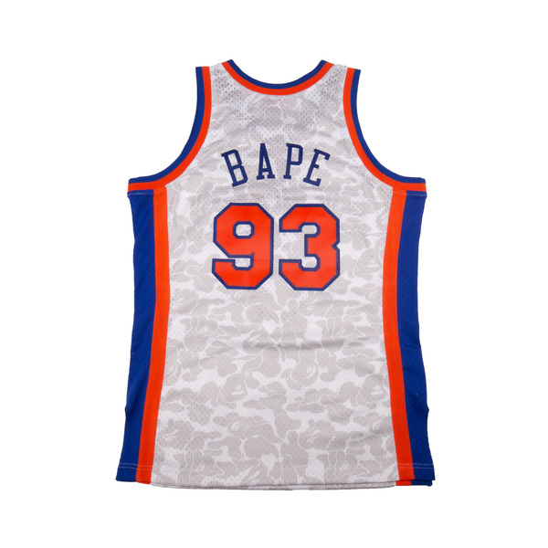 Bape White NBA Knicks Swingman Jersey