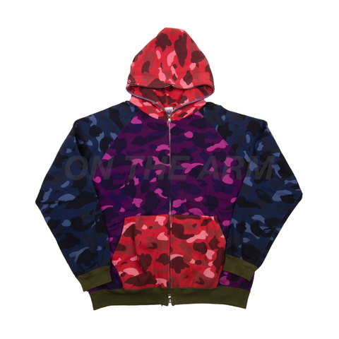 Bape Multi-Color Camo Zip