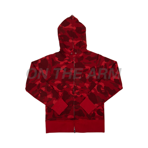 Bape Red Camo Zip Up