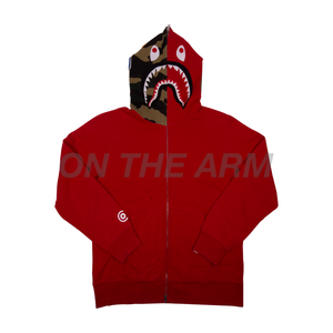 Bape Red Bapeland Shark Zip Up