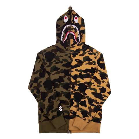 Bape Split Camo Shark Zip Up