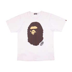 Bape White Ape Head Tee