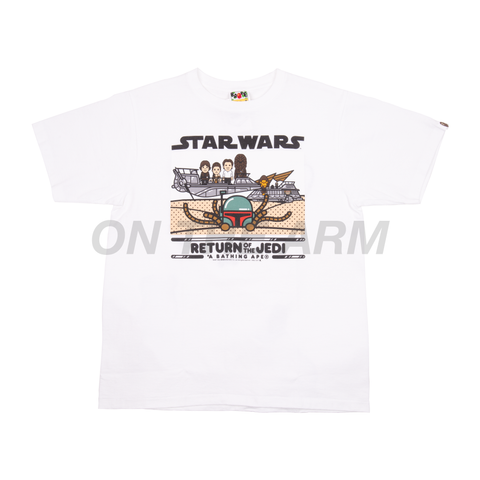 Bape White Star Wars ROTJ Tee