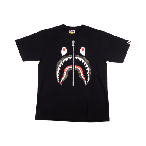 Bape Black Camo Shark Tee