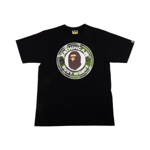 Bape Black Splinter Camo Busy Works Tee