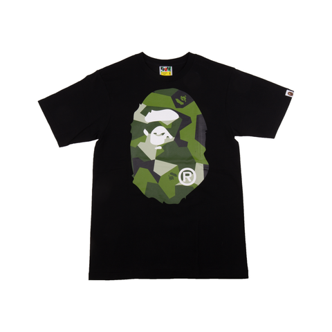 Bape Black Splinter Camo Head Tee