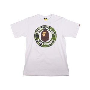 Bape White Splinter Camo Busy Works Tee