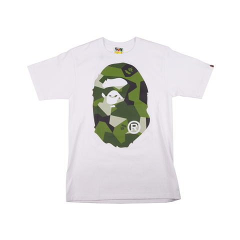 Bape White Splinter Camo Head Tee