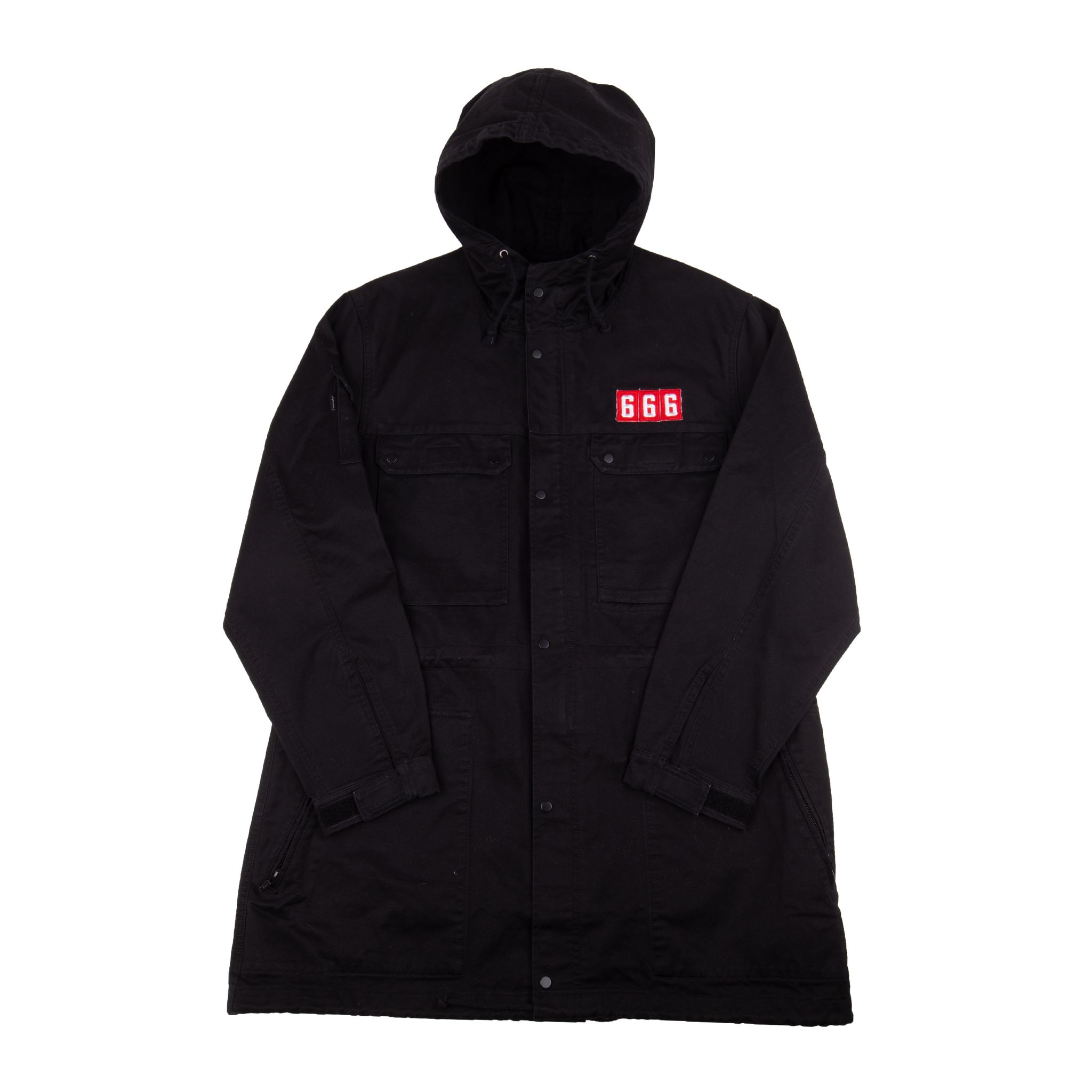 Supreme Black 666 Field Parka