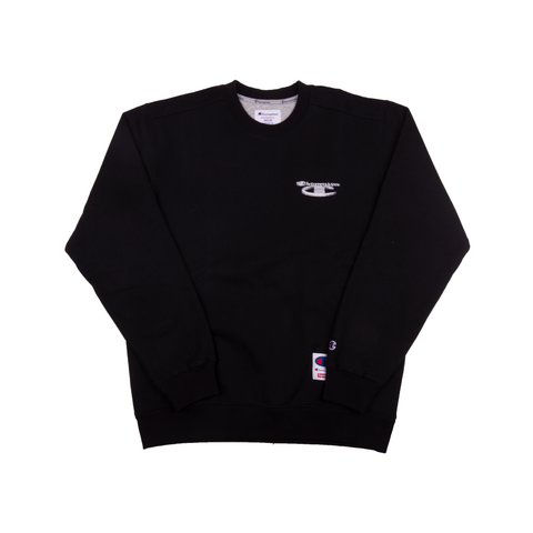 Supreme Black Champion Metallic Crew