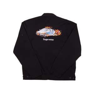 Supreme Black Cop Car Embroidered Jacket