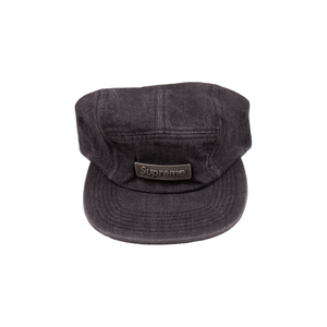 Supreme Black Denim Metal Plate Camp Cap