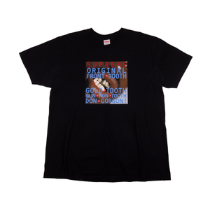 Supreme Black Front Tooth Tee