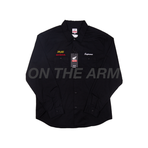 Supreme Black Honda FOX Work Shirt