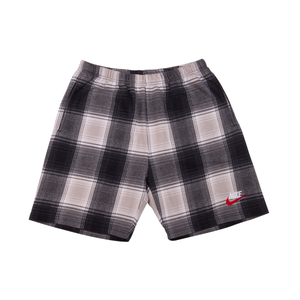 Supreme Nike Black Flannel Sweatshorts