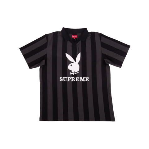 Supreme Black Playboy Soccer Polo